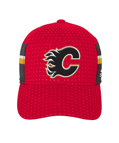 35f6e416513 ADIDAS CALGARY FLAMES 2017 STRUCTURED FLEX BOYS DRAFT HAT