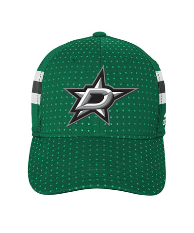 ADIDAS DALLAS STARS 2017 STRUCTURED FLEX BOYS DRAFT HAT