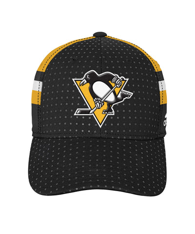 ADIDAS PITTSBURGH PENGUINS 2017 STRUCTURED FLEX BOYS DRAFT HAT