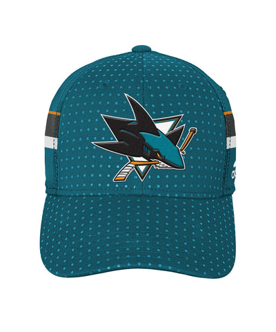 ADIDAS SAN JOSE SHARKS 2017 STRUCTURED FLEX MEN'S DRAFT HAT