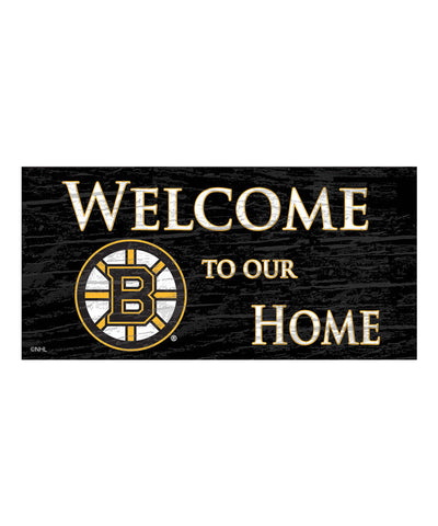 BOSTON BRUINS WELCOME TO OUR HOME SIGN