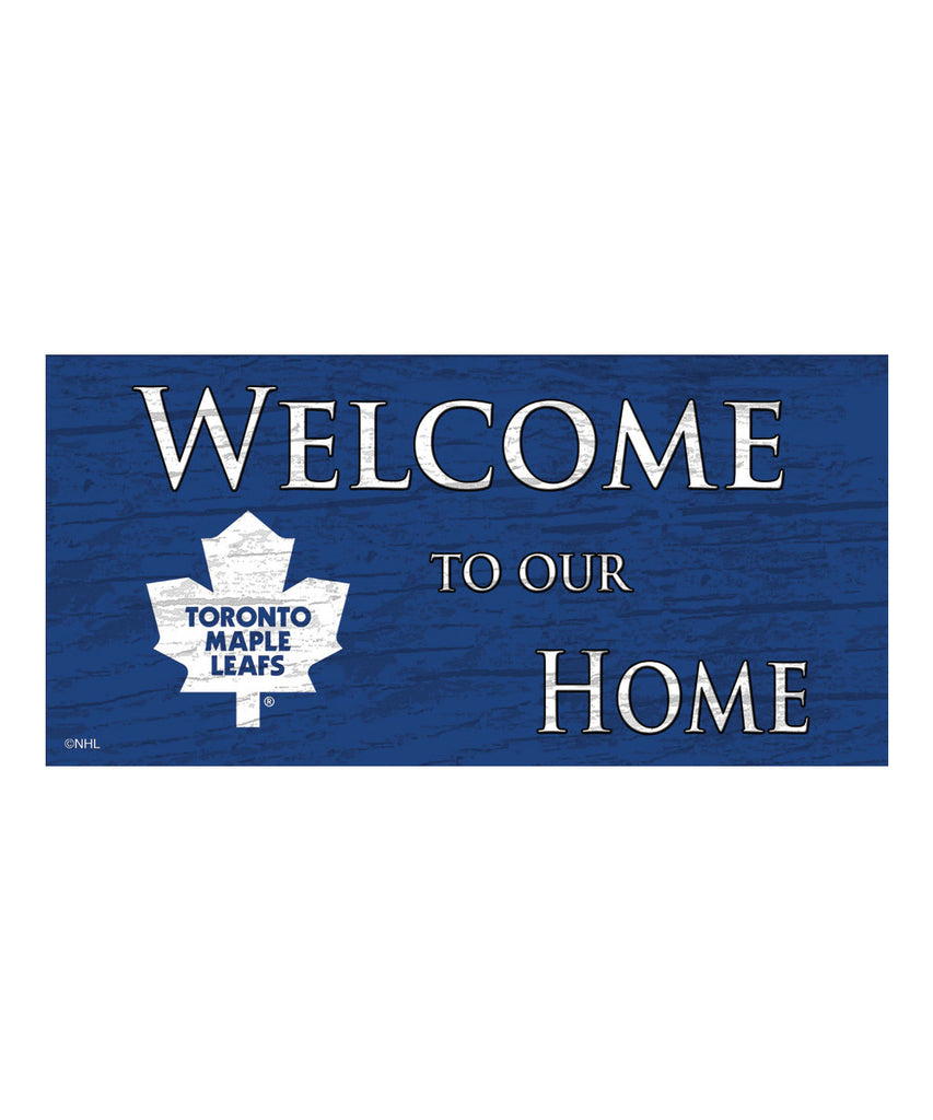 TORONTO MAPLE LEAFS WELCOME TO OUR HOME SIGN