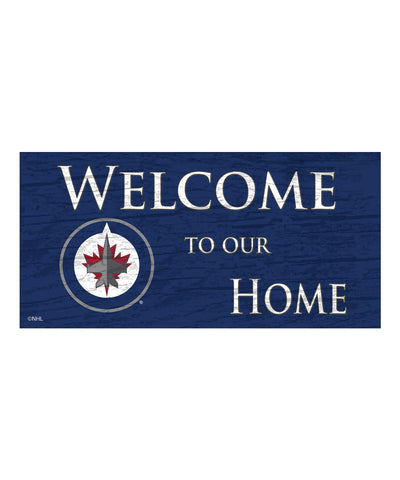 WINNIPEG JETS WELCOME TO OUR HOME SIGN