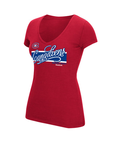 REEBOK MONTREAL CANADIENS SCRIPT AUTHENTIC WOMEN'S T-SHIRT