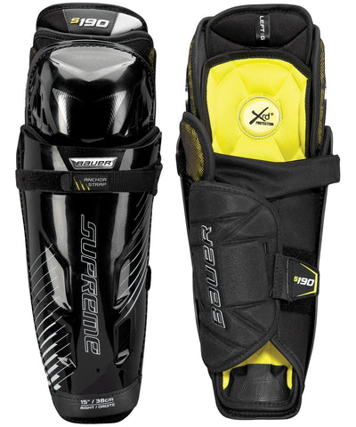 BAUER SUPREME S190 SENIOR SHIN GUARDS