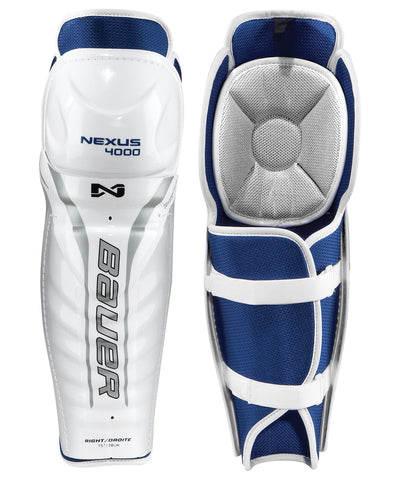BAUER NEXUS 4000 SR HOCKEY SHIN GUARDS