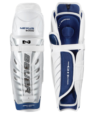 BAUER NEXUS 6000 SR HOCKEY SHIN GUARDS