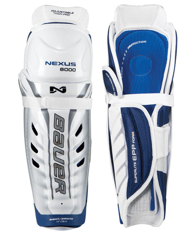 BAUER NEXUS 8000 SR HOCKEY SHIN GUARDS