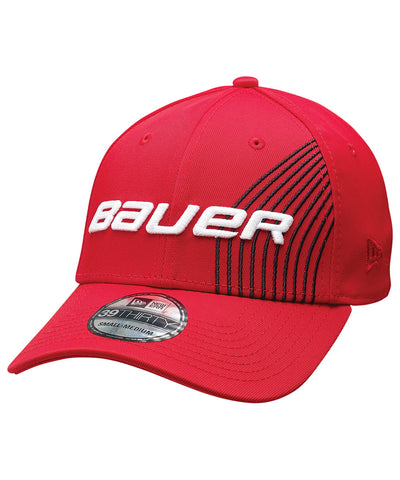 BAUER STRIPE RED SR CAP
