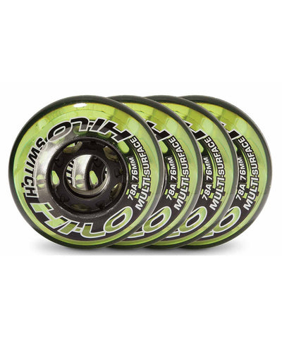 HI-LO SWITCH 4 PACK ROLLER HOCKEY SKATE WHEELS