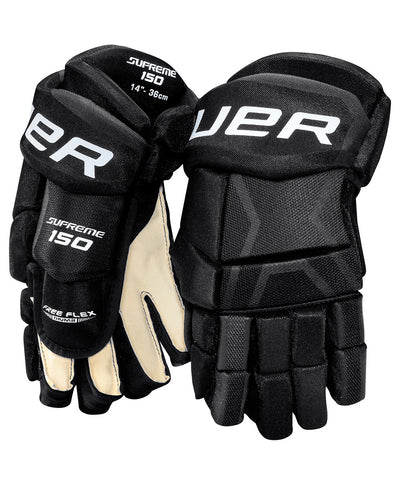 BAUER SUPREME 150 SR HOCKEY GLOVES