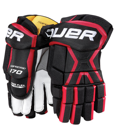 BAUER SUPREME 170 JR HOCKEY GLOVES