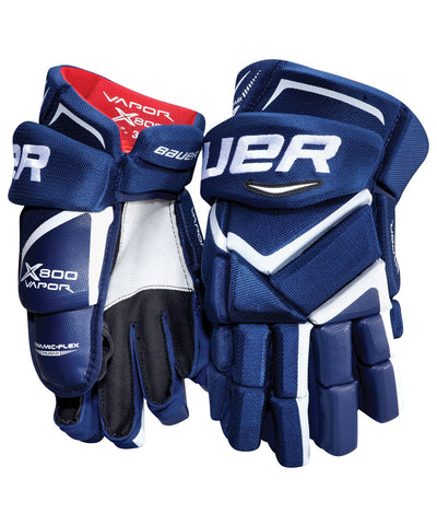 BAUER VAPOR X800 SR HOCKEY GLOVES