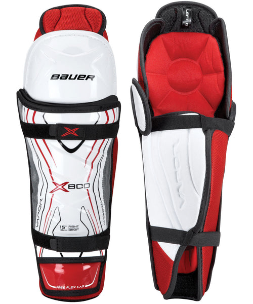 BAUER VAPOR X800 JR HOCKEY SHIN GUARDS