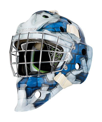 BAUER NME 4 JUNIOR GOALIE MASK WALL BLUE
