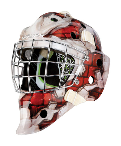 BAUER NME 4 SENIOR GOALIE MASK WALL RED