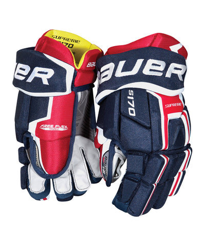 BAUER SUPREME S170 JR HOCKEY GLOVES