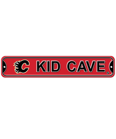 BULLETIN CALGARY FLAMES KID CAVE SIGN