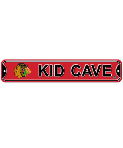 BULLETIN CHICAGO BLACKHAWKS KID CAVE SIGN