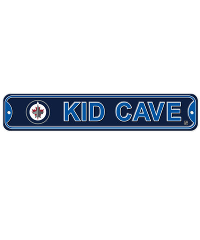 BULLETIN WINNIPEG JETS KID CAVE SIGN