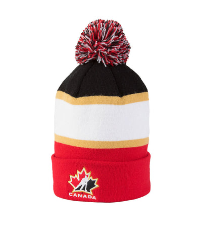 NIKE TEAM CANADA STRIPED POM YTH TOQUE