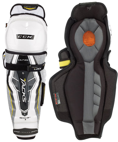 CCM ULTRA TACKS JR HOCKEY SHIN GUARDS