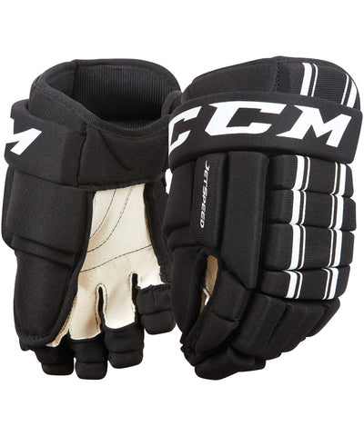 CCM JETSPEED JUNIOR HOCKEY GLOVES BLACK