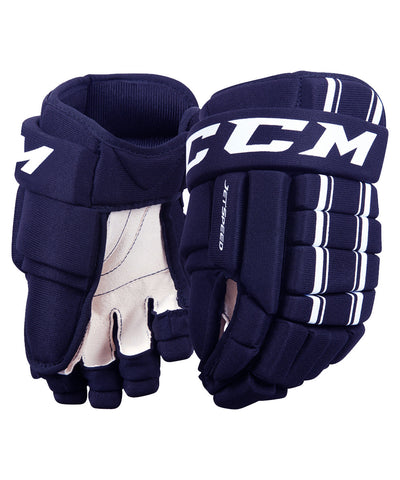 CCM JETSPEED JR HOCKEY GLOVES NAVY