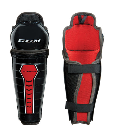 CCM JETSPEED YOUTH HOCKEY SHIN GUARDS