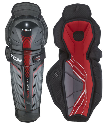 CCM QUICKLITE SR HOCKEY SHIN GUARDS