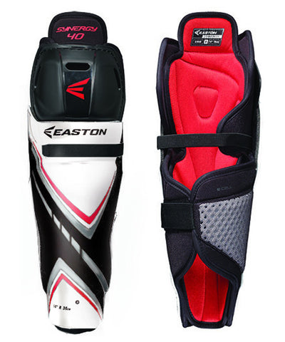 EASTON SYNERGY 40 SR HOCKEY SHIN GUARDS