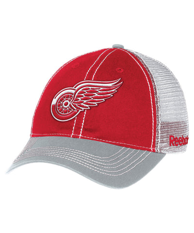 REEBOK DETROIT RED WINGS ADJ MESHBACK SR CAP