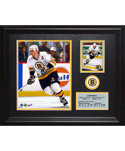 FRAMEWORTH PHOTOCARD BOSTON BRUINS CAM NEELY FRAME
