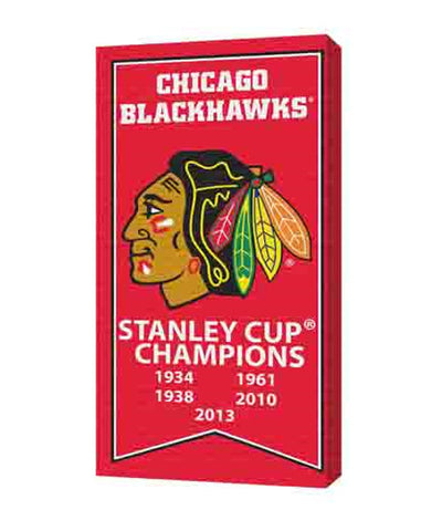 FRAMEWORTH CANVAS CHICAGO BLACKHAWKS STANLEY CUP BANNER