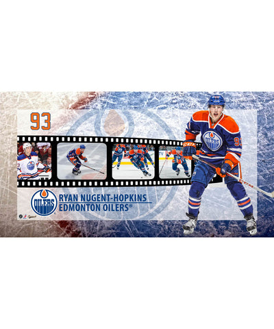 FRAMEWORTH FILMSTRIP EDMONTON OILERS NUGENT-HOPKINS PLAQUE