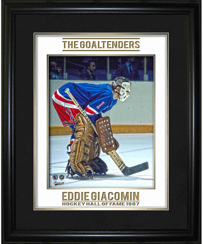 FRAMEWORTH GAME IMAGE HHOF NEW YORK RANGERS ED GIACOMIN FRAME