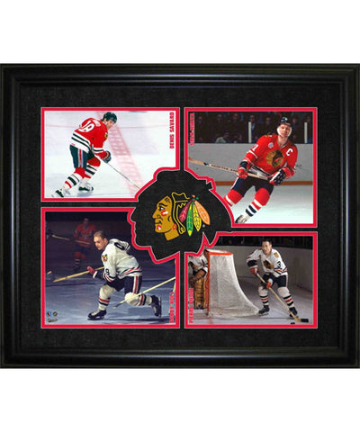 FRAMEWORTH HHOF 4-PLAYER CHICAGO BLACKHAWKS FRAME