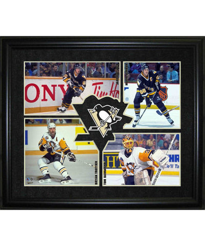 FRAMEWORTH HHOF 4-PLAYER PITTSBURGH PENGUINS FRAME
