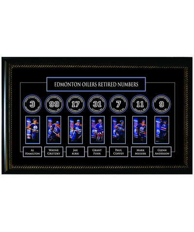FRAMEWORTH LEGENDS BANNER EDMONTON OILERS FRAME