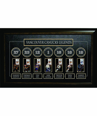 FRAMEWORTH LEGENDS BANNER VANCOUVER CANUCKS FRAME