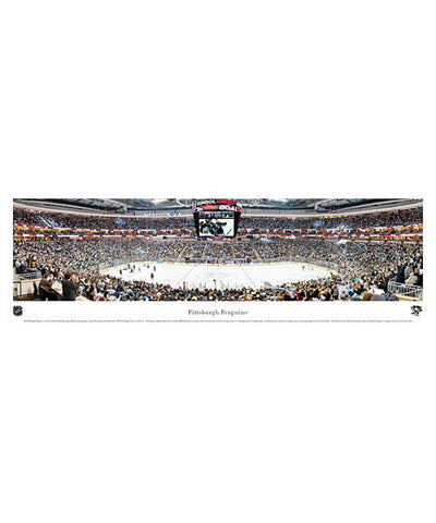 FRAMEWORTH PANORAMA PITTSBURGH PENGUINS ARENA PLAQUE
