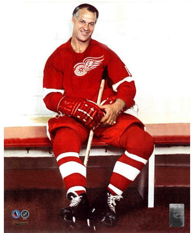 FRAMEWORTH HHOF RED WINGS GORDIE HOWE PHOTO