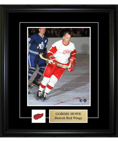 FRAMEWORTH PIN & PLATE DETROIT RED WINGS HOWE FRAME