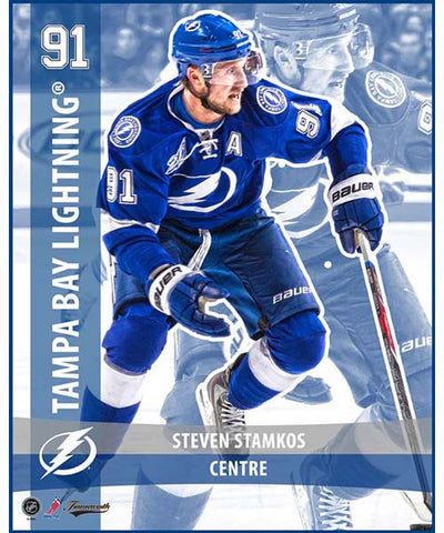 FRAMEWORTH PLAYER CARD TAMPA BAY LIGHTNING STAMKOS PLAQUE