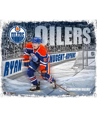 FRAMEWORTH RINK BOARD EDMONTON OILERS NUGENT-HOPKINS PLAQUE