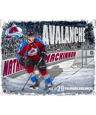 FRAMEWORTH RINK BOARD COLORADO AVALANCHE NATHAN MACKINNON PLAQUE