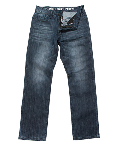 GONGSHOW QUADASAUROUS MEDIUM/DARK WASH SR JEANS