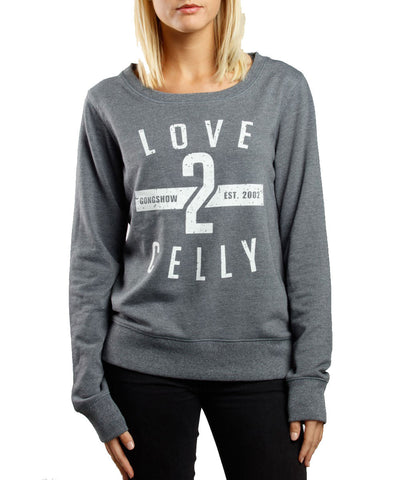GONGSHOW LOVE 2 CELLY WOMEN'S SWEATSHIRT