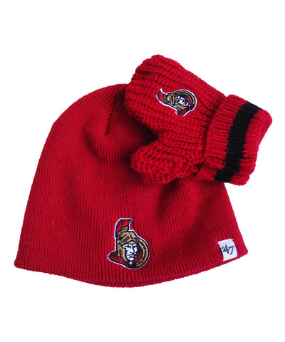 OTTAWA SENATORS INFANT BABY RAE KNIT SET
