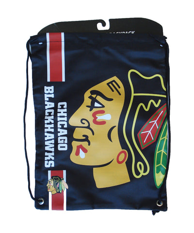 CHICAGO BLACKHAWKS DRAWSTRING LOGO BAG